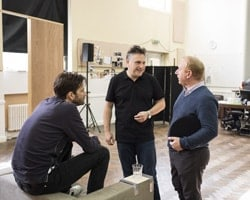 L-R David Tennant, Patrick Marber and Adrian Scarborough. Photo Credit Helen Maybanks