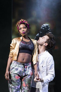 Dominique Moore (Lottie) and David Tennant (DJ), photo by Helen Maybanks