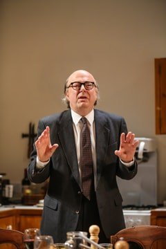 Roger Allam (Roy Jenkins) in Limehouse at the Donmar Warehouse. Photo by Jack Sain