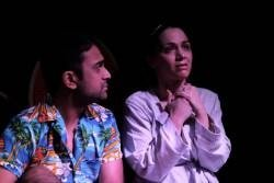 Omar Khan and Stephanie Pezolano in REFUGE - Photo credit: Olivia Rose