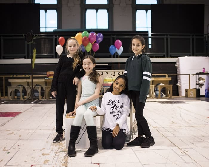 Royal Shakespeare Company production of Matilda The Musical - Emma Moore, Abbie Vena, eva-Marie Saffrey and Lilian Hardy (L-R). Credit - Helen Maybanks
