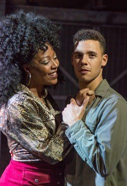 T'Shan Williams (Queen) & David Albury (Fleetwood) - The Life at Southwark Playhouse - (c) Conrad Blakemore