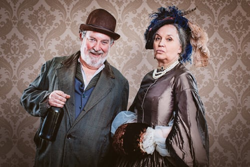 Paul Bradley and Susan Penhaligon in Caste - Photo by Greg Goodale