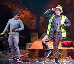 HONK! Liam Vincent-Kilbride as Ugly and Robert Pearce as Bullfrog Photo Nick Rutter