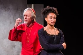 Stephen Boxer and Natalie Simpson in The Cardinal