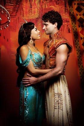 Aladdin - Prince Edward Theatre. Matthew Croke (Aladdin) and Jade Ewen (Jasmine)