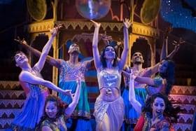 Bring on the Bollywood. Photo by Nicola Young (l-r) Nisha Aaliya, Emiko Jane Ishii, Raheem Mir, Mithun Gill, Subhash