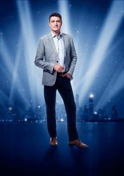 CRAZY FOR YOU. Tom Chambers as 'Bobby' and company.