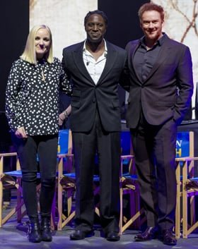 Kerry Ellis, Hugh Maynard and Russell Watson at the launch of Heaven on Earth