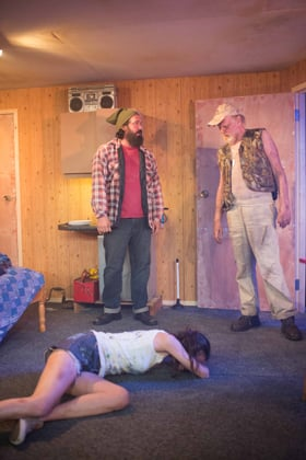 Out Theatre On Fried Meat Ridge Rd. - Keith Stevenson, Michael Wade and Melanie Gray, Trafalgar Studios