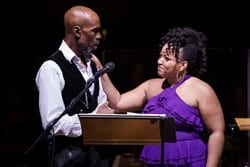 THE COLOR PURPLE Cavin Cornwall (Mister) Marisha Wallace (Celie)