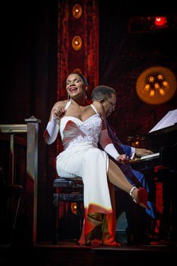 Audra McDonald and Shelton Becton in Lady Day at Emerson's Bar & Grill - Credit Marc Brenner