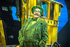 Rufus Hound as Mr Toad in The Wind in the Willows UK tour.-Photo by Marc Brenner Jamie Hendry Productions