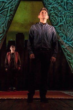 The Kite Runner Playhouse Theatre Hassan (Andrei Costin) Amnir David Ahmad Photo Irina Chira