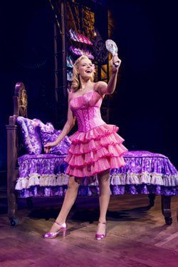 Sophie Evans (Glinda) in Wicked at The Apollo Victoria Theatre Photo Matt Crocket
