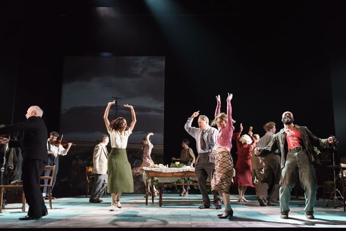 Company of Girl From The North Country at The Old Vic. Photo by Manual Harlan
