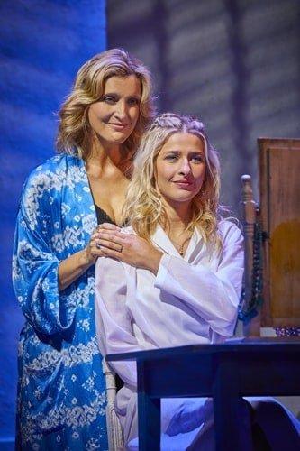 LtoR Sara Poyzer as Donna and Georgina Castle as Sophie in MAMMA MIA! Credit Brinkhoff & Mögenburg