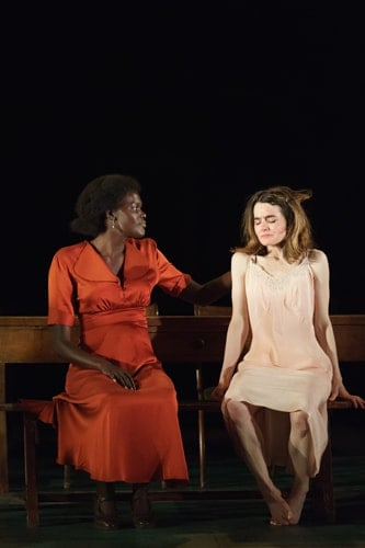Sheila Atim (Marianne Laine) Shirley Henderson (Elizabeth Laine) in Girl From The North Country at The Old Vic - Photo by Manual Harlan