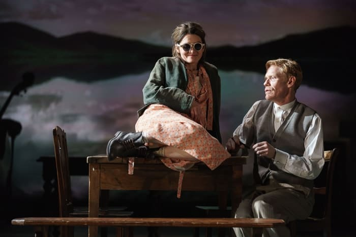 Shirley Henderson (Elizabeth Laine) and Michael Shaeffer (Reverend Marlowe) in Girl from the North Country at the Old Vic - Photo by Manual Harlan