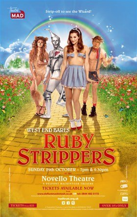 WEST END BARES RUBY STRIPPERS POSTER ARTWORK