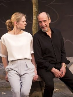 Naomi Frederick and F. Murray Abraham in The Mentor at Ustinov Studio. Credit Simon Annand