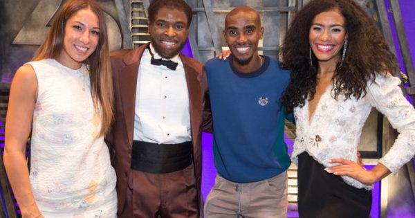 mo farah meets west end cast of motown the musical