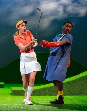 Ottilie Mackintosh as Louise & Romayne Andrews as Justin - A Fox on the Fairway