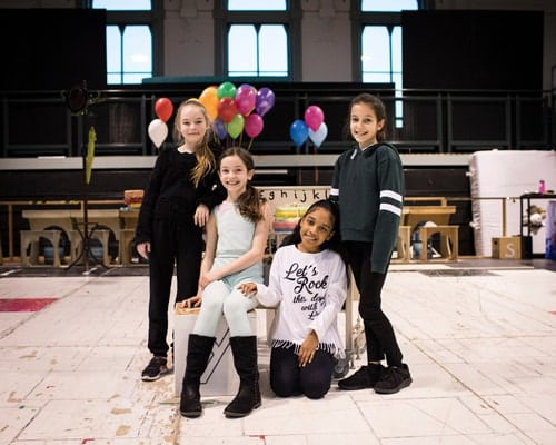 Royal Shakespeare Company production of Matilda The Musical - Emma Moore, Abbie Vena, Éva-Marie Saffrey and Lilian Hardy (L-R).