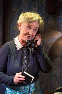 Ann Penfold as Mrs Wilberforce. The Ladykillers at the New Wolsey Theatre. Photo Mike Kwasniak