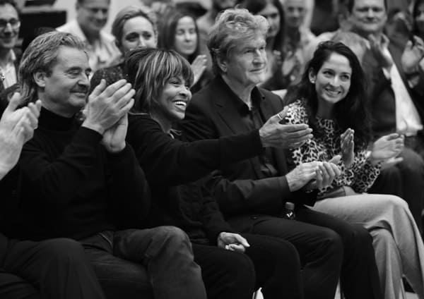 L-R Erwin Bach, Tina Turner, Roger Davies and Tali Pelman at TINA workshop December 2016 (Photo by Hugo Glendinning)