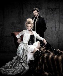 Natalie Dormer and David Oakes in Venus in Fur at the Theatre Royal Haymarket