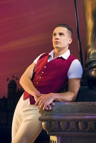 Aaron Sidwell as Fiyero in WICKED UK & Ireland Tour. Photo Credit Matt Crockett
