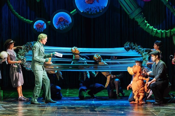 Cast of Dr. Seuss's The Lorax at The Old Vic. Photos by Manuel Harlan
