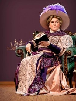 Gwen Taylor as Lady Bracknell in The Importance of Being Earnest, credit Manuel Harlan