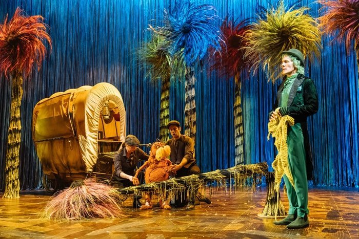 The Lorax - Laura Caldow, Ben Thompson and David Ricardo-Pearce (Puppeteers) and Simon Paisley Day (The Once-ler) in Dr. Seuss's The Lorax at The Old Vic. Photos by Manuel
