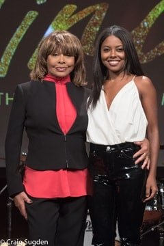 l-r Tina Turner and Adrienne Warren