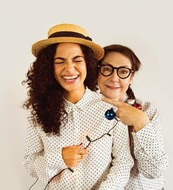 Anna Shaffer and Pauline McLynn (l-r) for Daisy Pulls It Off at Park Theatre. Photo by Jack Sain