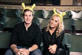 Steffan Harri and Amelia Lily Shrek the Musical UK Ireland tour. Credit Chris Gardner