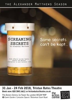 Screaming Secrets at Tristan Bates Theatre