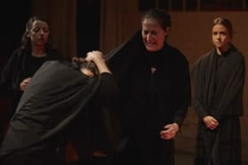 Mary Conlon, Pía Laborde, Candela Gómez and Joanna Kate Rodgers, in BERNARDA ALBA - Picture by Elena Molina