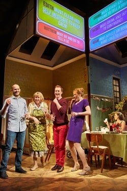 Rules For Living at ETT and Royal and Derngate Production. Ed Hughes (Adam), Jane Booker (Edith), Jolyon Coy (Matthew) and Laura Rogers (Nicole) Photo by Mark Douet