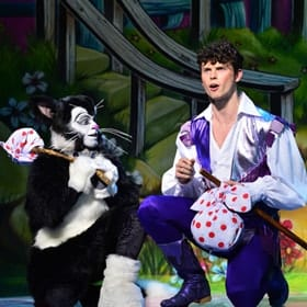 Lukus Alexander as Eileen The Cat & Charlie Stemp as Dick Whittington - Dick Whittington - Credit Paul Coltas