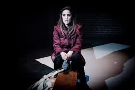 Heretic Voices at the Arcola Theatre. Lauren Samuels in A Hundred Words for Snow. Photo credit Robert Workman