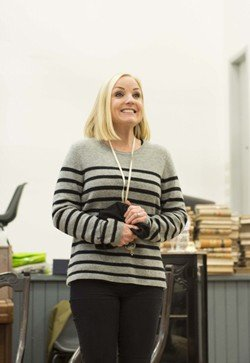 Kerry Ellis in rehearsals for THE IMPORTANCE OF BEING EARNEST. Photo credit James Findlay