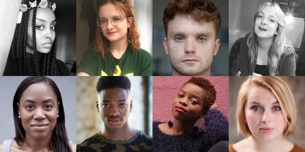 Clockwise from top left: Ifrah Ismail, Chloë Florence, Sam Cormor, Lillian Pierce,  Leila Nashef, Nkenna Akunna, Joshua Asaré, Nicola Taylor