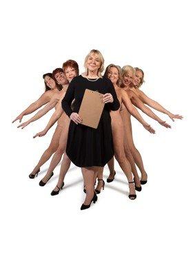 L to R, Lorraine Bruce, Anna-Jane Casey, Ruth Madoc, Fern Britton, Rebecca Storm, Denise Welch, Sara Crowe. Credit John Swannell