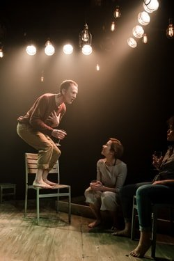 Niall Bishop, Tanya Fear and Eva-Jane Willis in Tiny Dynamite, by Richard Davenport