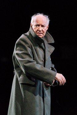 David Calder (Caesar) - Julius Caesar at the Bridge Theatre - Photo credit Manuel Harlan