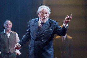 Ian McKellen in the title role of KING LEAR at Chichester Festival Theatre. Photo Manuel Harlan