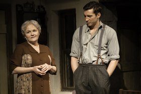 Lesley Nicol (Mother) and Ben Batt (George) in The York Realist at the Donmar Warehouse, directed by Robert Hastie. Photo by Johan Persson